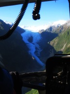 the view on the Franz Josef Glacier from the Helicopter